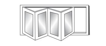 pintu jendela upvc folding