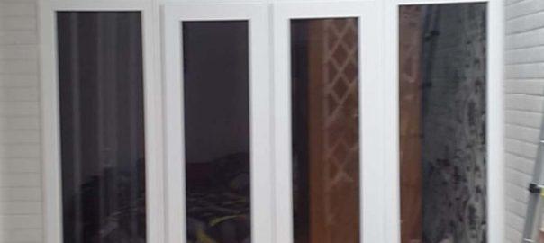 contoh jendela upvc swing putih di pondok betung id8508