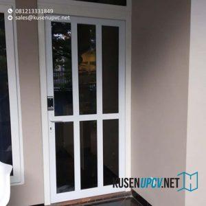 jual pintu upvc swing conch warna putih di Permata Hijau id8427