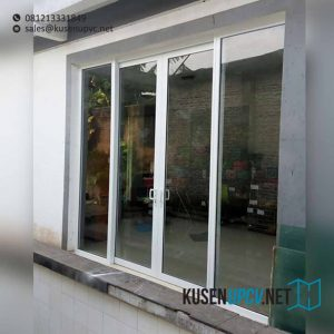 contoh pintu sliding upvc dengan kaca mati di Duren Sawit id7581