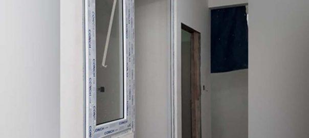 jual pintu upvc merk conch warna putih di Bintaro id9108