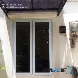 Jendela UPVC Warna Putih Klien Gondangdia Menteng Jakarta id6148