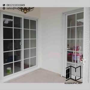 Jual Pintu UPVC Warna Putih Model Sliding ID5686
