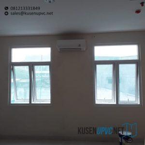 Jendela UPVC Custom Model Jungkit Putih Klien Rumah Sakit Kramat 128 Senen Jakarta Id6369