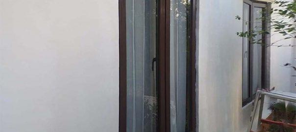 Jendela UPVC Murah Swing Coklat Perumahan Siaga Residence Pejaten Barat Pasar Minggu ID6562