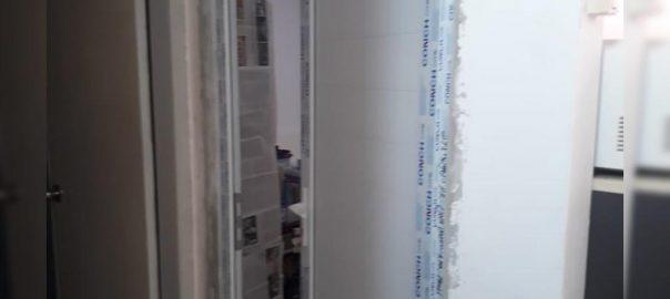 Pabrik Pintu UPVC Swing Putih Komplek Adora Permata Jombang Ciputat Tangerang ID6303